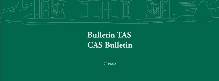 Court of Arbitration for Sport Publishes CAS Bulletin 2019/2
