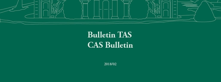 Court of Arbitration for Sport Publishes CAS Bulletin 2018/02