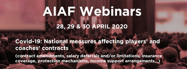 Upcoming AIAF Webinars