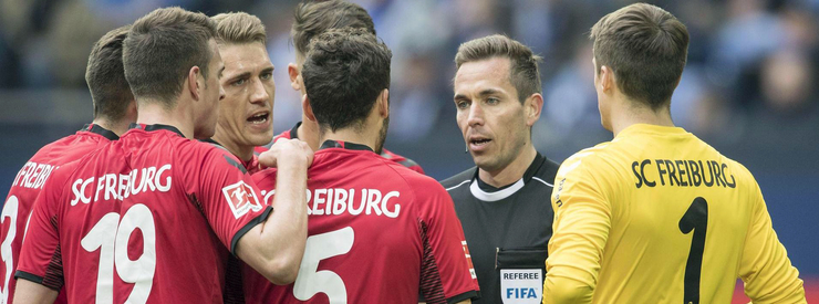 The yellow-red card of Nils Petersen